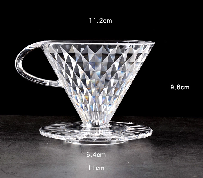 "AVX-CDC014-V60-02 dripper ""diamond style"""
