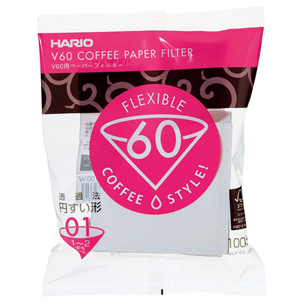 Hario V60-01 Dripper flex filter papir 100db